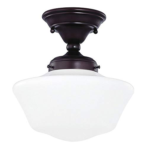 (10-Inch Bronze Schoolhouse Ceiling Light)