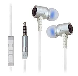 Heavy Duty 3.5mm Stereo Earbuds for HTC Desire 516 (White) - with Microphone + MYNETDEALS Stylus