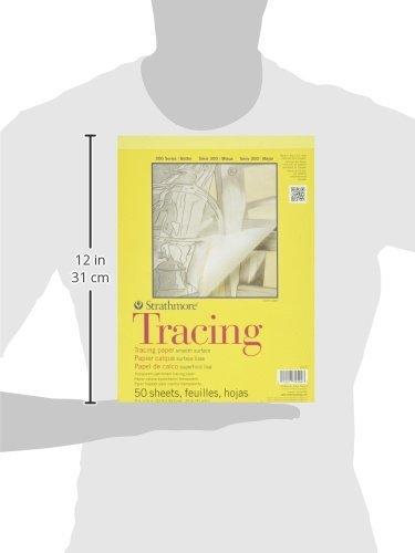 Strathmore 370-9 300 Series Tracing Pad, 9''x12'' Tape Bound, 50 Sheets (Thrее Рack, White) by Strathmore (Image #3)