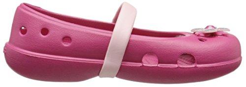 Crocs Ps Keeley Flat Ragazze petal Bambine Springtime raspberry E Ballerine Pink Rosso RqFwARnr