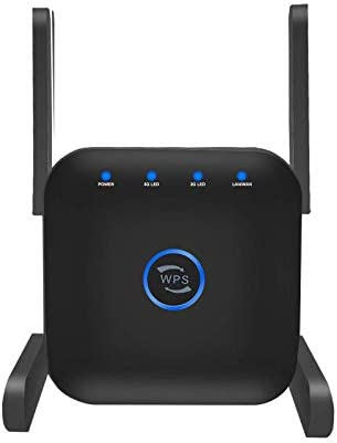Ylife WiFi Repeater-WiFi Range Extender Booster, AC1200 Dual Band High Speed as much as 1200Mbps, 360° Wide Coverage Eliminate WiFi Dead Zones, Support WPS One Button Setup.