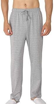 YIMANIE Men's Pajama Pant Cotton Comfy Soft Lounge Knit Sleep Pants Black,Navy,Gray,Red,Blue M-