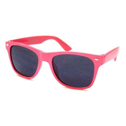 KIDS Childrens Retro Style Neon Color CUTE Sunglasses PINK (Age - Really Cute Glasses