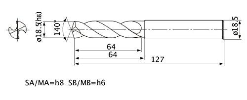 2 mm Hole Depth External Coolant 18.5 mm Cutting Dia Mitsubishi Materials MWE1850SA MWE Series Solid Carbide Drill 3.4 mm Point Length 18.5 mm Shank Dia.