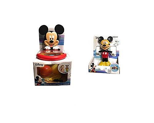 Mickey Bathtub Toys- Basketball Hoop, Water Swimmer, Foam Stickers, Bath Crayon and Mesh Bag