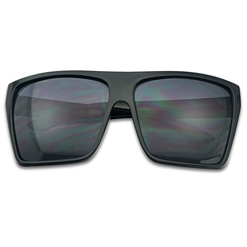 BLACK Oversized Large XL Big Sunglasses Kim Square Flat Aviator Mens Womens Matte - Sunglasses Oversized Mens