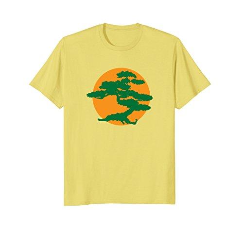 Mens Bonsai Tree T Shirt With Orange Sun Japanese Karate Zen Xl Lemon