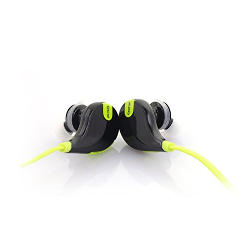 iPeli(TM) QCY QY7 Sound Bluetooth Stereo Headset/Headphone (Includes FREE Slap Phone Stand) QY7/QCY Noise Cancellation, Lightweight Earbuds - Perfect for Gym, Exercise, Sports, Running, In-Built Mic for Hands-free Calling iPhone 6 Plus 5S 5C 5 4S 4, Samsung Galaxy S5 5 4 S3 Note 3 2, LG G2, Google Blackberry and other Cellphone/Smart Phone Mobile Devices(Green/Black) (Best Headphones For Iphone 4s)