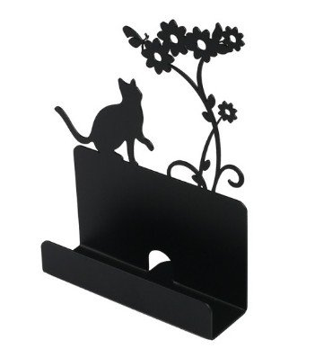 Amazon metal business card holder stand desk display cat metal business card holder stand desk display cat shape black by opus metalart colourmoves Choice Image