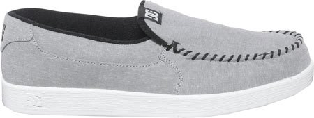 DC Men's Villain TX Skate Shoe, Light Grey, 9 D US