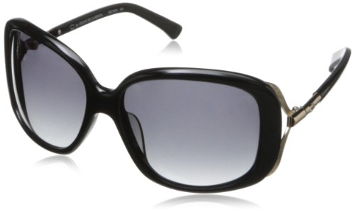 O by Oscar de la Renta Eyewear Women's SSC5076 Rectangular Sunglasses,Black,174 - Sunglasses Oscar