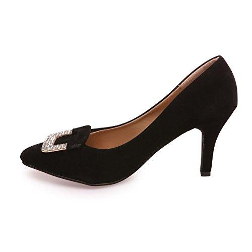 Negro Modeuse La Material Zapatos Vestir Sintético Mujer De SHwHqRr0