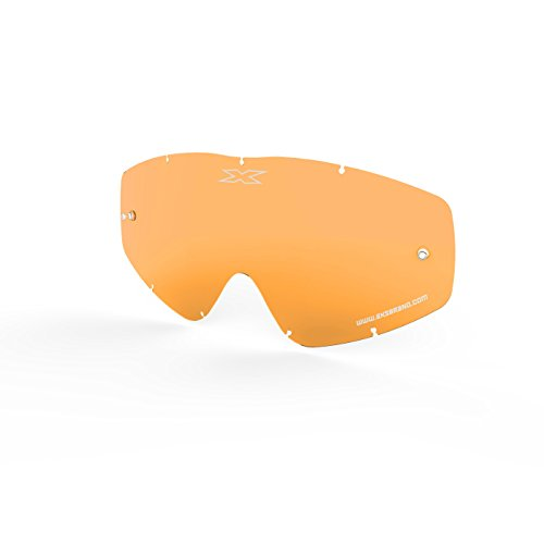 Make Goggles Beer (EKS Brand EKS-S GOX Flat-Out Crossfade ScatterX Beer Optics Goggle Lens Replacement with Tear-off posts, Polycarbonate, anti-scratch, anti-fog, 100% UVA protection (Persimmon))