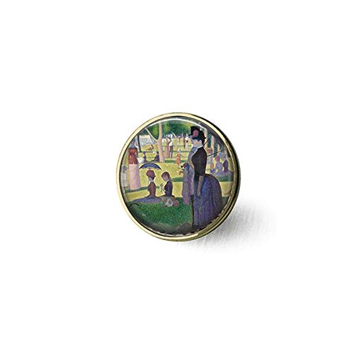 Georges Seurat's A Sunday Afternoon on The Island of The Grande Jatte- Classic Art brooch,Bible Quote Pendant - Christian Insect Art brooch,wrooch,Unique brooch Customized Gift,Everyday Gift brooch -