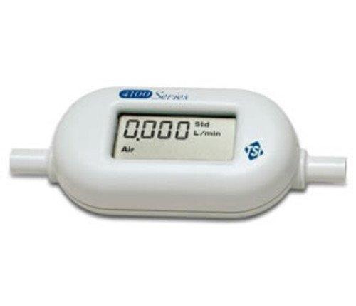 (TSI Series 4100 General Purpose Thermal Mass Low Flowmeter with LCD Display, 0.01-20L/min Air, O2, N2 Gas Calibrations, 3/8
