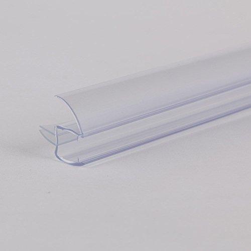 """chic SUNNY SHOWER 28"""" Length 3/8"""" Frameless Shower Door Sweep Bottom Seal Wipe Drip Rail"""