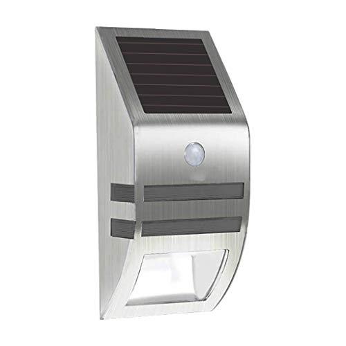 LiboboSolar Powered LED Wall Light Motion Sensor Security Lamp Outdoor Lamps