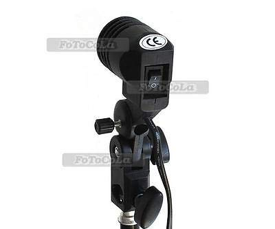 FidgetFidget Flash Strobe Bulb Umbrella Holder Light Stand Adapter Swivel Studio Photo E27