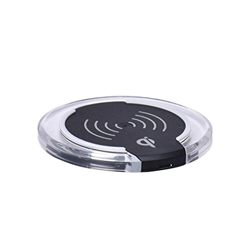 Wireless Charger, Perman Qi Wireless Charger Charging Pad for Galaxy S7, Galaxy S7 Edge, Galaxy S6, S6 Edge+, Note 5 and All Qi-Enabled Devices Black