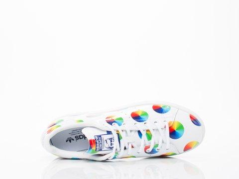 Adidas Heren Stan Smith Kleurenwiel Ftwwht, Ftwwht, Midind S77367 Ftwwht, Ftwwht, Midind