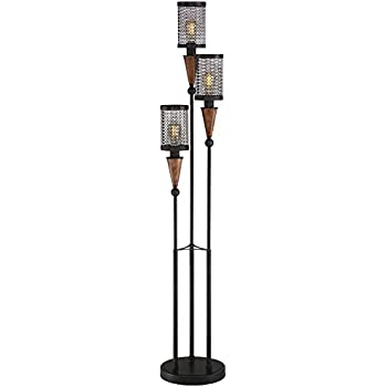 Franklin Iron Works Alamo Floor Lamp With Double Shade