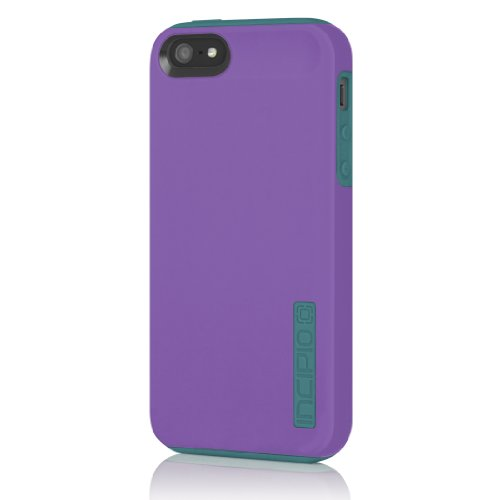 Incipio IPH-910 Silicrylic Dual Pro Hard Shell Case with Silicone Core for Apple iPhone 5-1 Pack - Retail Packaging - Indigo Violet and Turquoise