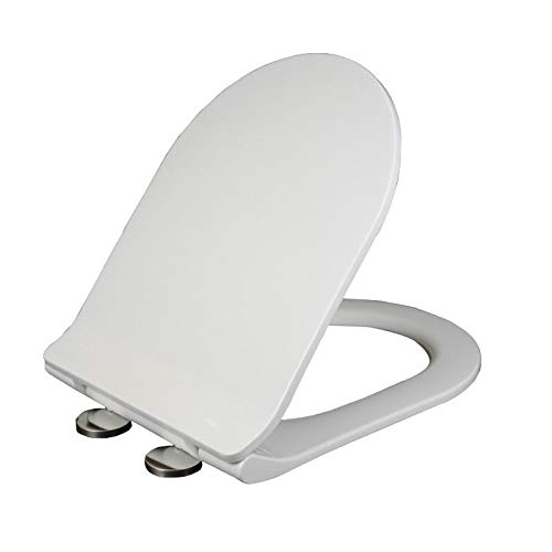 Anddoa Mrosaa Universal Thicken Slow-Close U Type Toilet Seat Covers Set PP Board White Antibacterial Lid - 9027 by Anddoa (Image #2)