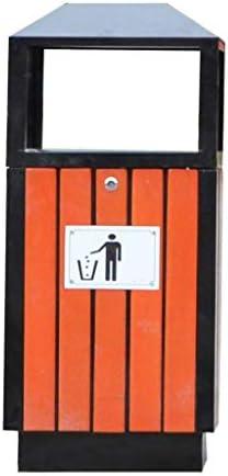 屋外の灰皿の金属鋼鉄木製のゴミ箱はストリートコミュニティのゴミ箱を駐車できます