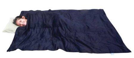"Sleep Tight Weighted Blanket (Xtra Large 57"" x 80"" 25 lbs, Navy Blue Corduroy)"