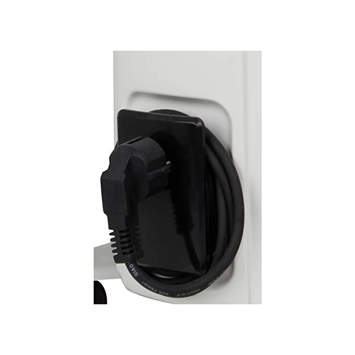 31Lj74u4XIL Radiador de aceite Orbegozo en color blanco, 4 ruedas pivotantes, asa para transporte y recoge cables Potencia de 1000W Termofusible de seguridad con limitador y piloto luminoso de encendido