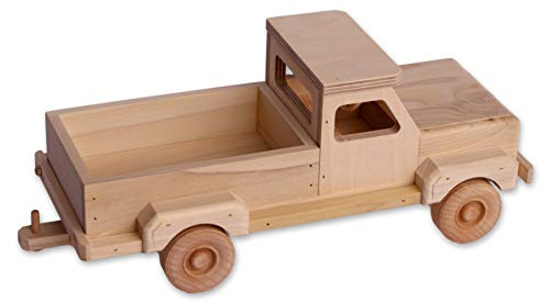 (Amish-Made Wooden Toy Pickup)