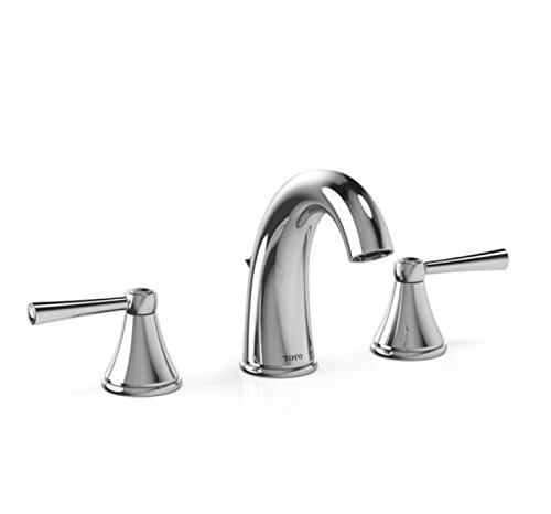 - Toto TL210DD#CP Silas Widespread Lavatory Faucet, Polished Chrome