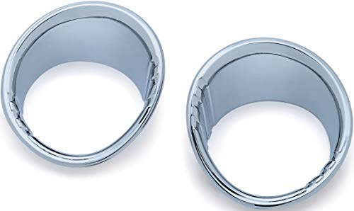 Tri-Line Fuel and Voltage Gauge Bezels for 2015-19 Harley-Davidson Road Glide Motorcycles 1 Pair Kuryakyn 6922 Motorcycle Accent Accessory Chrome