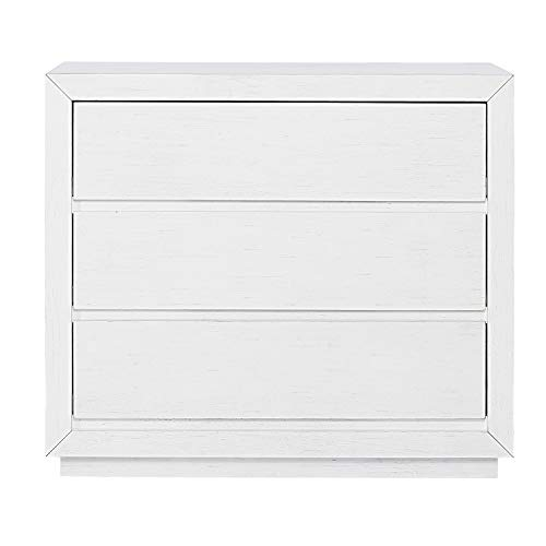 Evolur Maddox 3 Drawer Chest, Weathered White