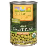 Field Day Peas, Og, Sweet, 15-Ounce (Pack of 12)