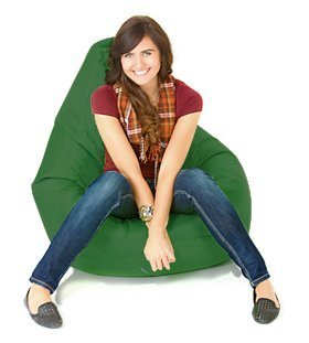 Indoor Outdoor Water Resistant Filled Bean Bag Gaming Chair Seat Lounger - Bottle Green Shopisfy