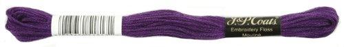 Coats Crochet 6-Strand Embroidery Floss, Dark Violet, 24-Pack