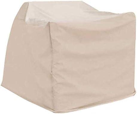 ファニチャー カバー ファニチャーカバー ガーデン家具カバー 防水 パティオテーブルセット 長方形 家具プロテクターカバー 、白 シバオ (Size : 120×120×70CM)