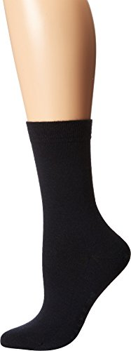 Falke Women's Soft Merino Wool-Cotton Socks, Dark Navy, 39-40 (8-9 US)