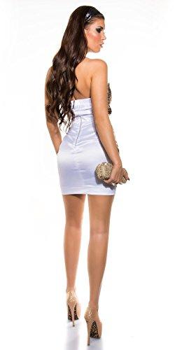 Bandeau Cocktail-Kleid mit Reißverschluss, leo