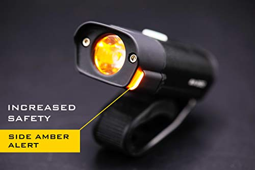 POWERFUL BX-300 CREE XP-G2 Bike Light Set USB Rechargeable Front Headlight w/Amber Side Alert + Bonus Free Rear LED Bike Light For Adults Men Women Kids Front & Back Road Cycling Bicycle Safety Lights by Night Provision (Image #5)