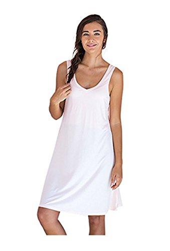 Faceplant Dreams Dreamwear Bamboo V-Neck Nightshirt (Large, Blush Pink)