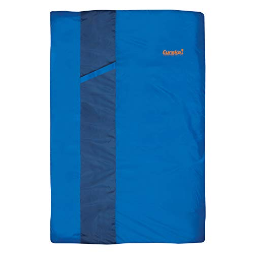 Eureka! Sandstone 30-Degree, 3-Season Rectangular Sleeping Bag, Double Size, Blue (7 Pounds 15 Ounces)
