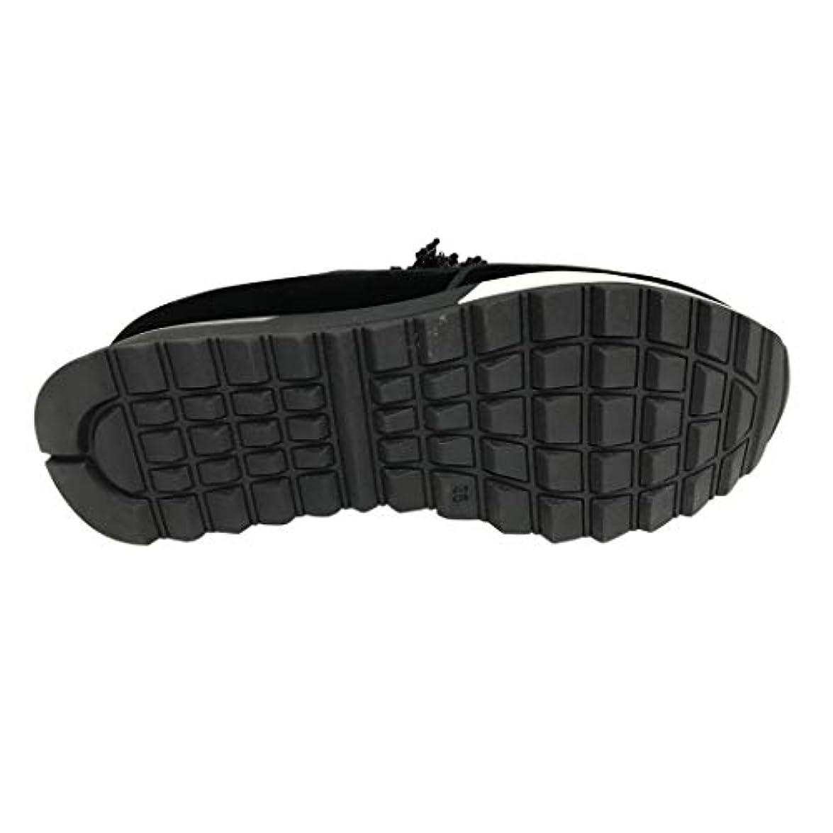 Jeannot Sneakers Donna In Camoscio Nero Con Applicazioni Zeppa Cm 3 Mod 71160 Made Italy