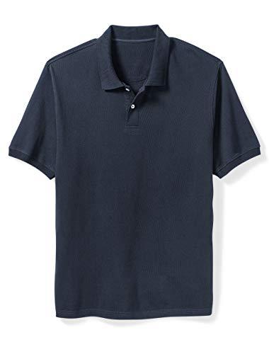Amazon Essentials Men's Big & Tall Cotton Pique Polo Shirt fit by DXL, Navy, ()