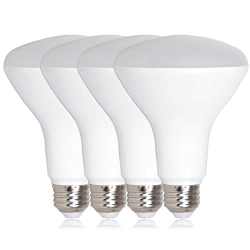 Maxxima LED BR30 75 Watt Equivalent Dimmable 11 Watt Light Bulb Warm White 950 Lumens Energy Star, 3000K (Pack of 4)