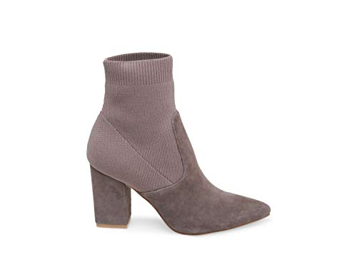 Reece 5 Madden Dress Suede Women's Bootie 5 Steve Us Grey fqwO0Ex0A