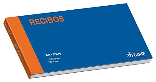 Dohe 50016 - Buoni di ricevute, blocchi copiativi, per un terzo ponibile in orizzontale