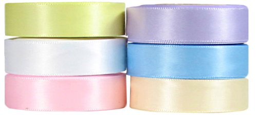 Ivory Double Satin Offray Ribbon (Ribbon, Hip Girl 30yd (6x5yd) 3/8