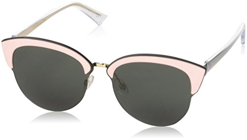 Dior Un Sunglasses BKLQT Rose Gold Pink and Green Frame / Grey - Gold Rose Sunglasses Dior